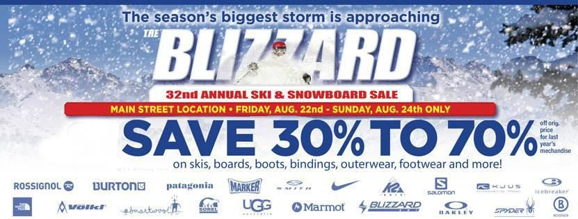 32nd Blizzard Sale
