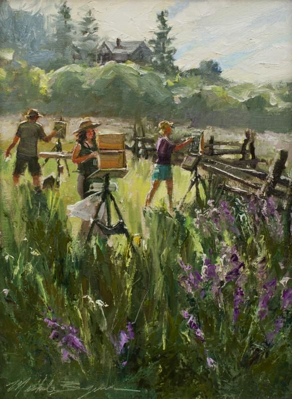 Byrne, Artists Painting The Lupine Unframed
