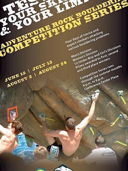 Poster Adventure Rock Bouldering Competition Series