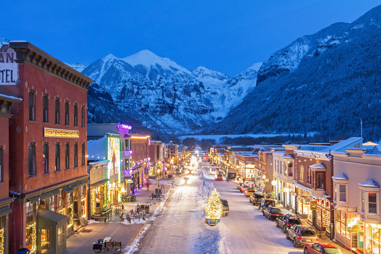 Telluride Main Street over the holidays