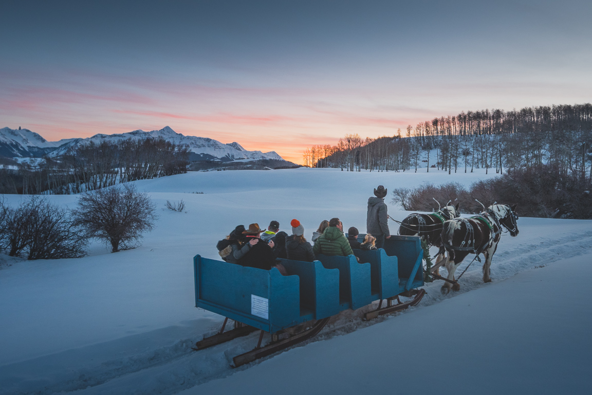 Dinner Sleigh Ride in Telluride, CO