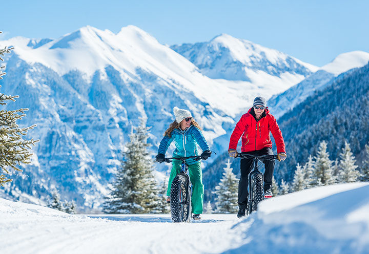 fat tire biking in Telluride, CO