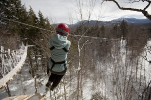 Zip-lining at Smugglers Notch, VT (Courtesy of Smugglers Notch)